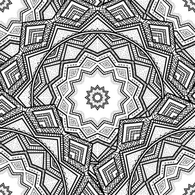 Векторная природа бесшовный образец с абстрактным украшением. Premium векторы
