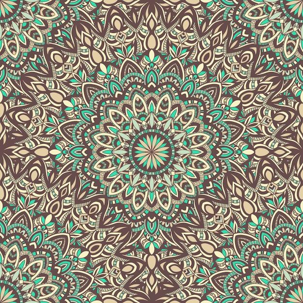 抽象的な飾りとベクトル自然シームレスパターン。 Premiumベクター