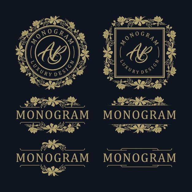 結婚式や装飾用の高級テンプレートデザイン Premiumベクター