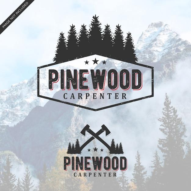 パインウッドのロゴのヴィンテージ Premiumベクター