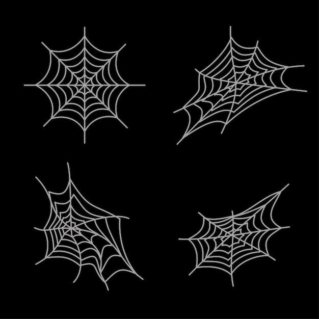 Простые паутины хэллоуин активы Premium векторы