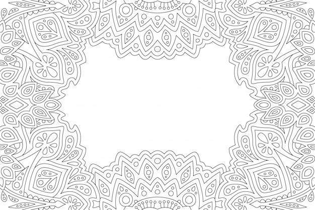 エレガンスラインアートの着色ページ Premiumベクター