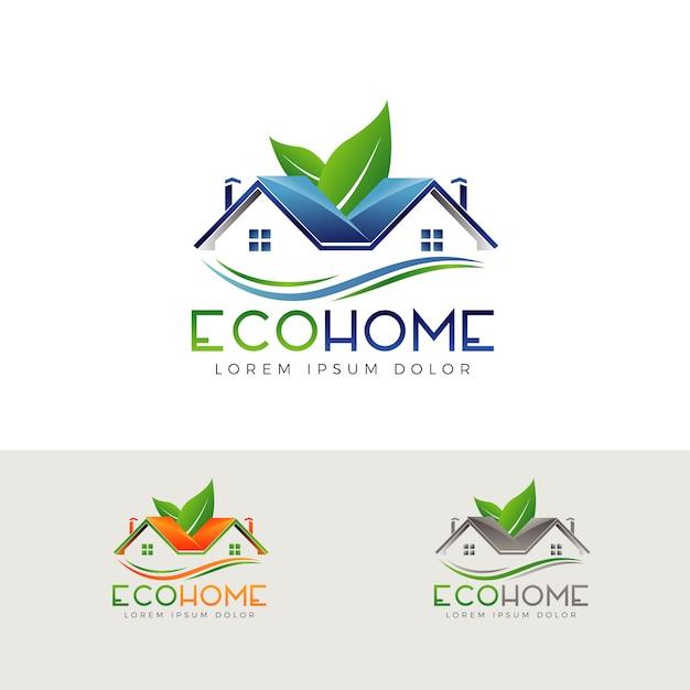 エコグリーン資産ロゴ Premiumベクター