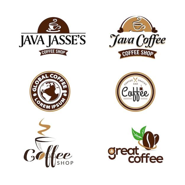 Дизайн логотипа кафе Premium векторы