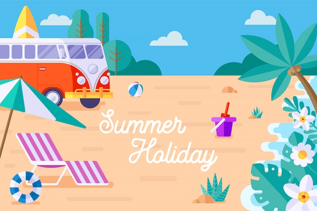 夏休み Premiumベクター