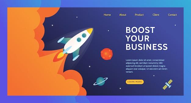 ビジネスのランディングページを強化する Premiumベクター