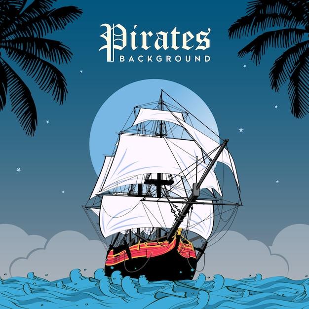 海賊の背景 Premiumベクター