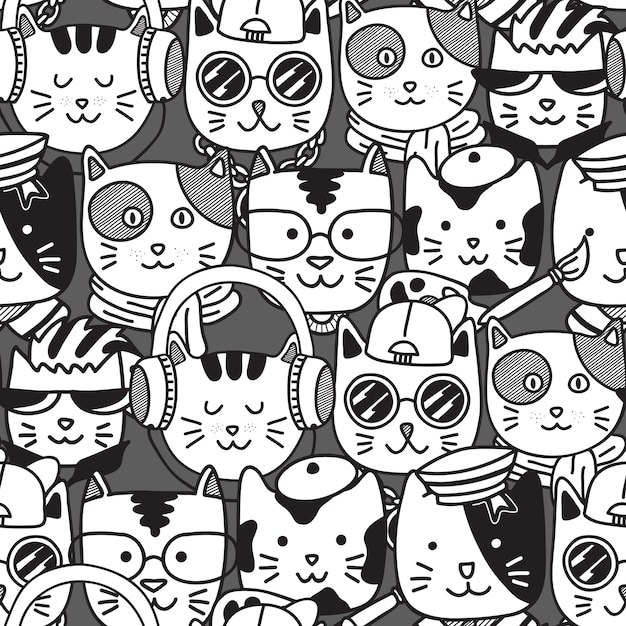 много картинка много котиков черно белая оценили чувство юмора