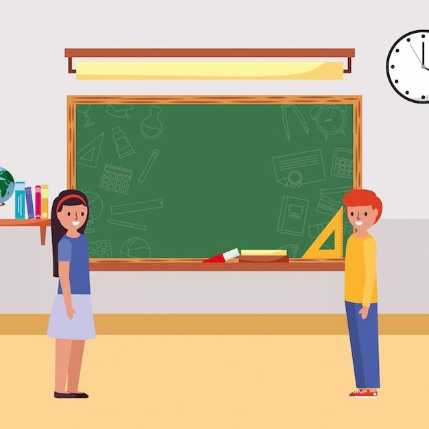 教室の生徒 Premiumベクター