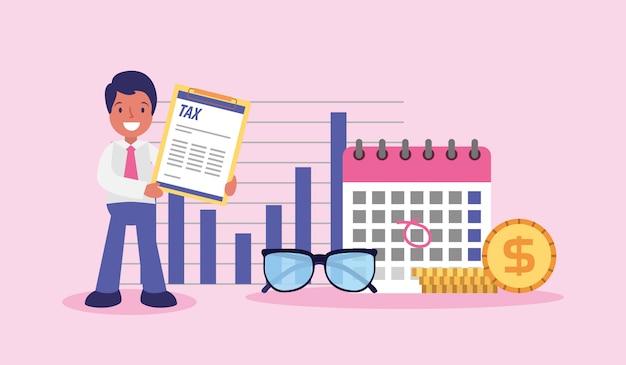 День налогового бизнесмена Premium векторы