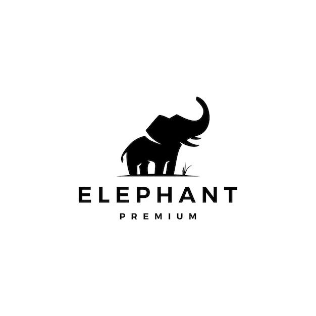 象のロゴ Premiumベクター