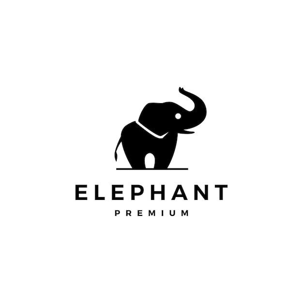 象のロゴアイコン Premiumベクター