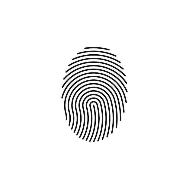 Отпечатков пальцев отпечатков пальцев замок безопасных безопасности логотип значок шаблона Premium векторы