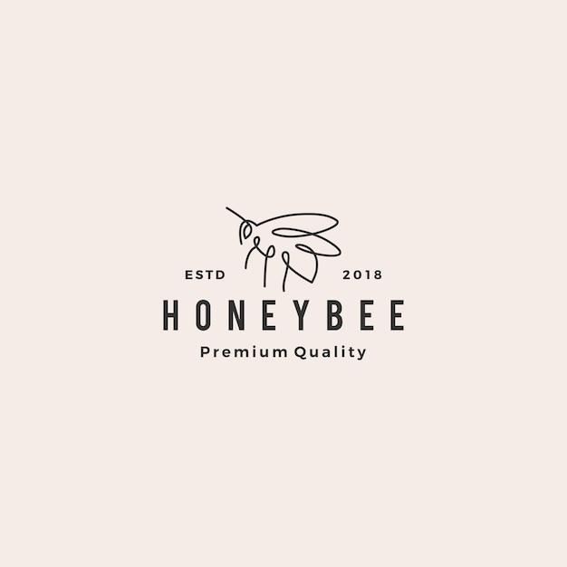 Логотип медового пчелы Premium векторы