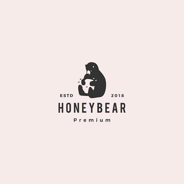 Логотип медного медведя Premium векторы