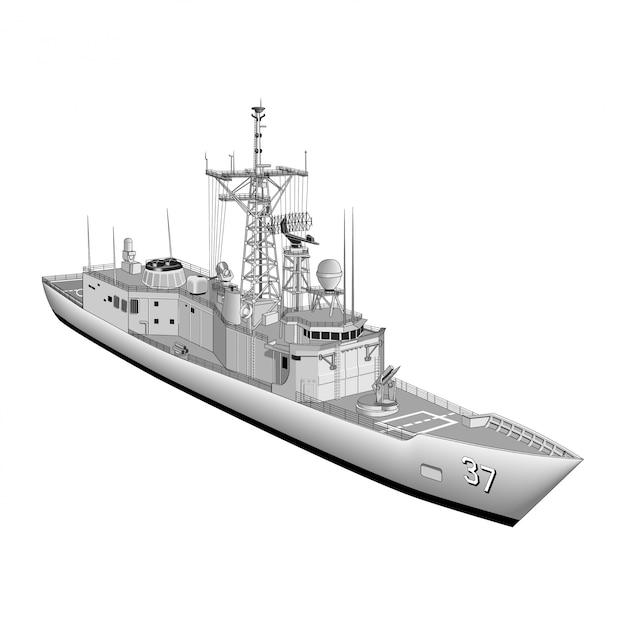 軍艦 Premiumベクター