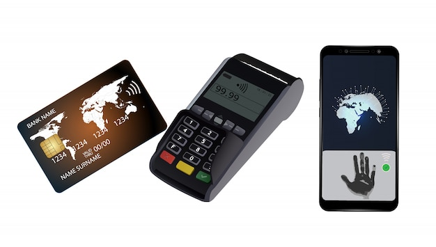 クレジットカード取引 Premiumベクター