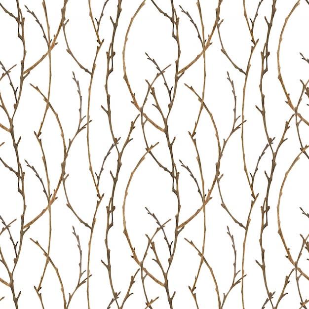 クリスマスの装飾のための冬の森のシームレスパターン Premiumベクター