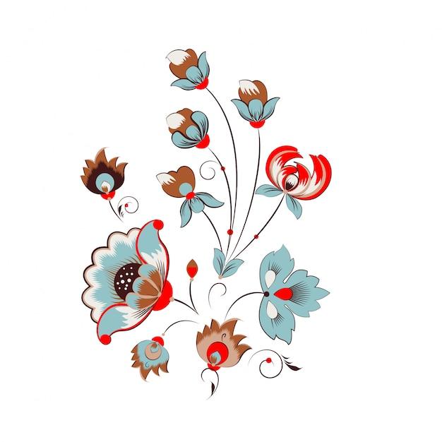 ロシアの花飾り Premiumベクター