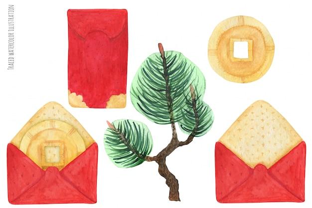 中国の赤い封筒 Premiumベクター