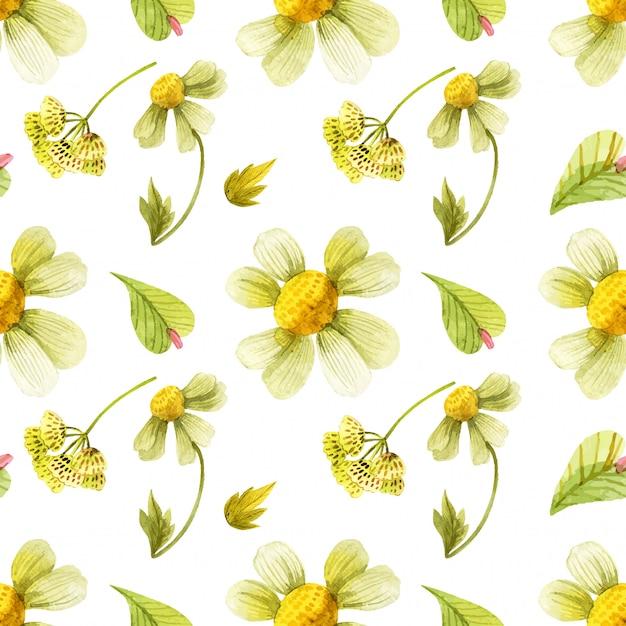野生植物のシームレスパターン Premiumベクター