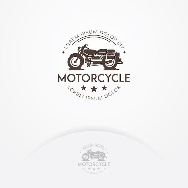 クラシックなオートバイのロゴデザイン Premiumベクター