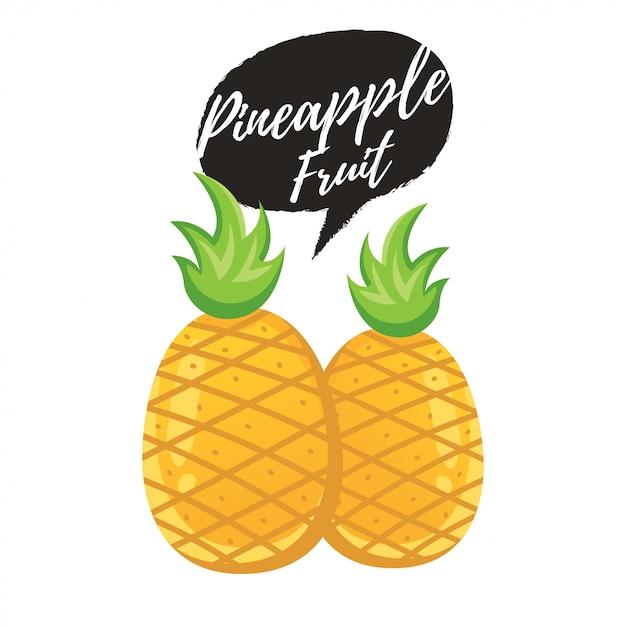 パイナップルトロピカルな甘い夏のフルーツ Premiumベクター