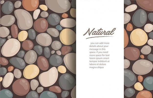 丸い石の背景と書き込み用のスペース Premiumベクター