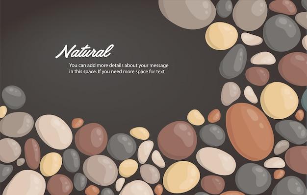 丸い石の背景と書き込みベクトルのためのスペース Premiumベクター