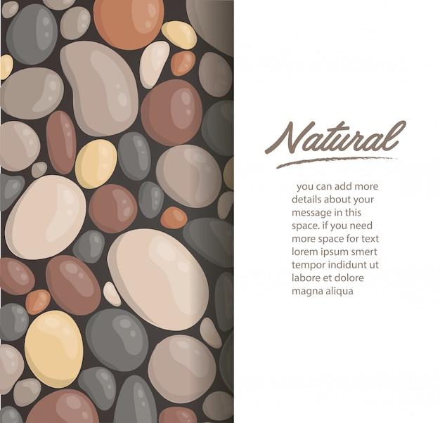 丸い石の背景の壁紙のベクトル Premiumベクター