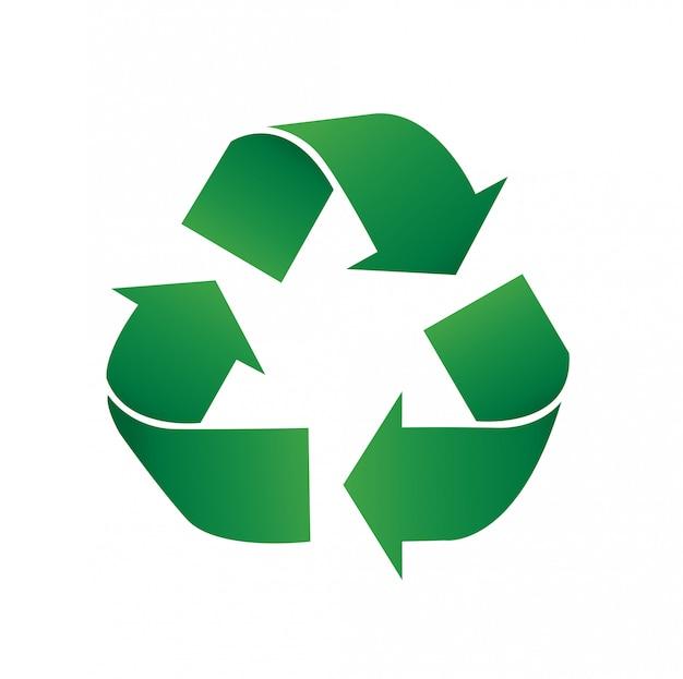 リサイクルアイコンシンボルベクトル図 Premiumベクター