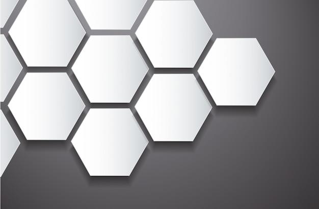 Абстрактный пчелиный улей шестиугольник и космический фон Premium векторы