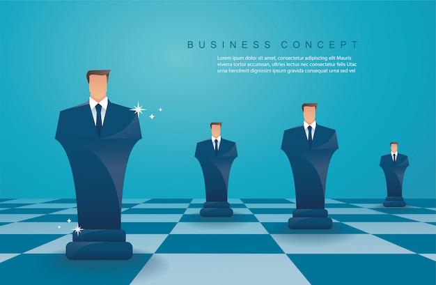 チェス図ビジネス戦略の概念 Premiumベクター