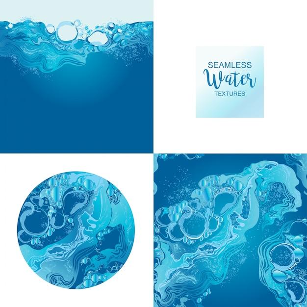 Набор векторных текстуры воды Premium векторы
