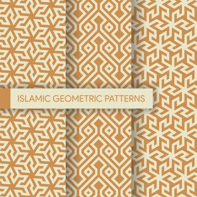 シームレスな幾何学的背景パターンコレクション Premiumベクター