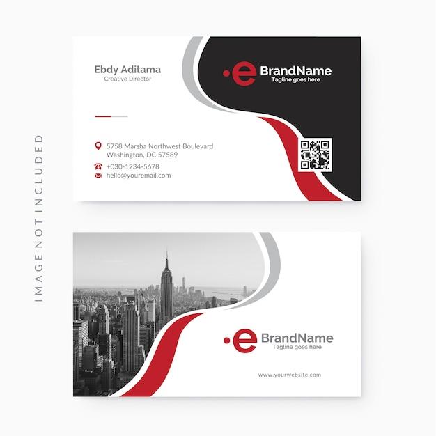 清潔でモダンな企業のビジネスカードテンプレート Premiumベクター