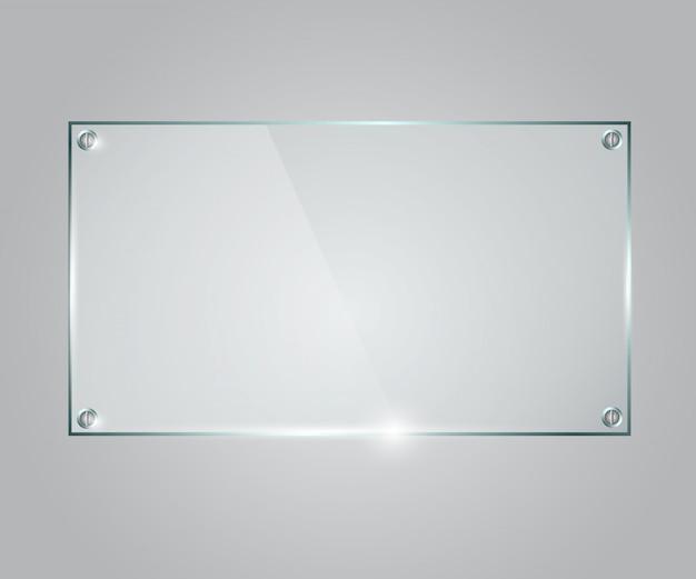 ベクトルガラスフレーム。 Premiumベクター