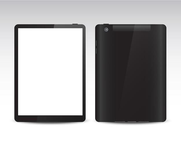 さまざまな側面からのリアルなタブレット Premiumベクター