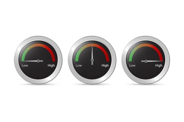 Тест скорости стрелка вектор Premium векторы