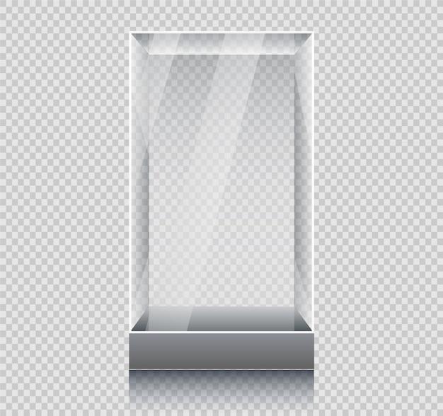 Пустая стеклянная витрина Premium векторы