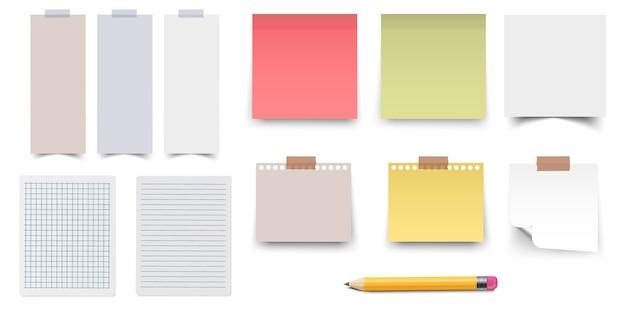 Цветные и белые наклейки Premium векторы