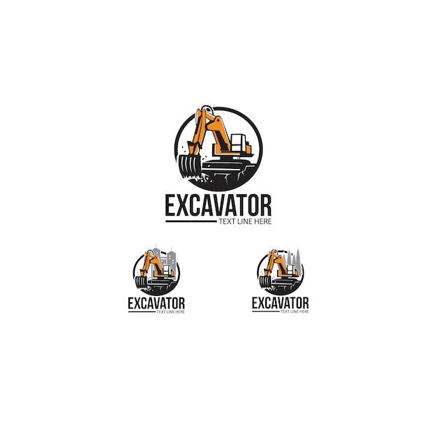 掘削機 Premiumベクター
