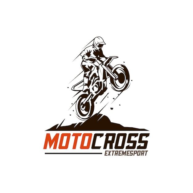 Мотокросс логотип Premium векторы