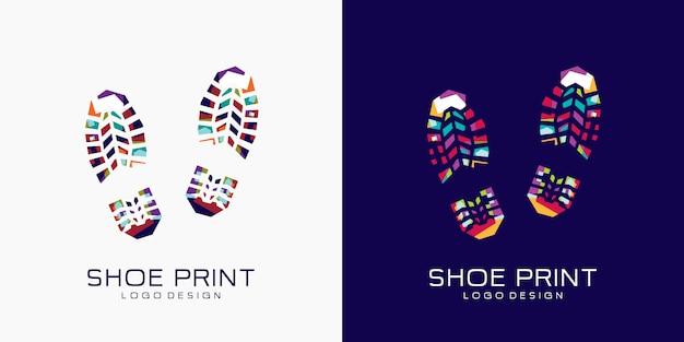 靴プリントロゴ Premiumベクター