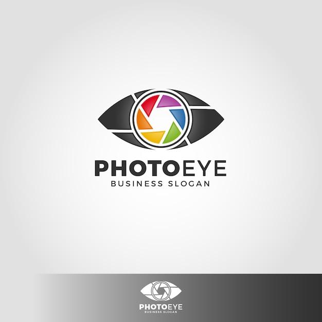 Шаблон для фотоглаза глаз Premium векторы