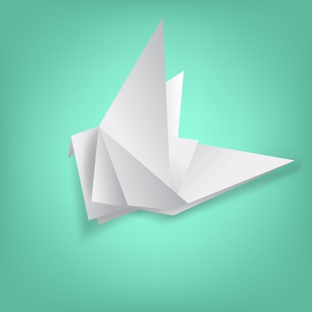 鳥の紙の折りたたみに関する知恵 Premiumベクター