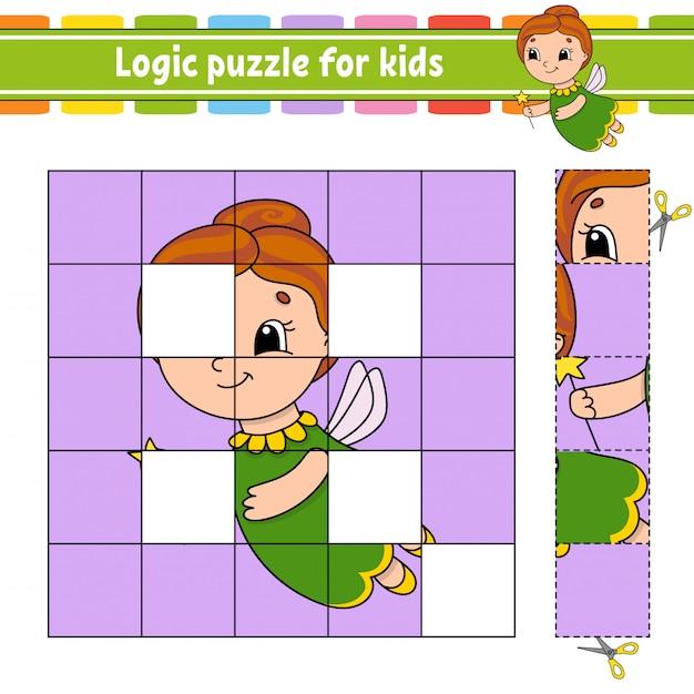 Логическая головоломка для детей Premium векторы