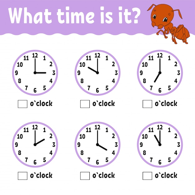 時計で時間を学ぶ Premiumベクター