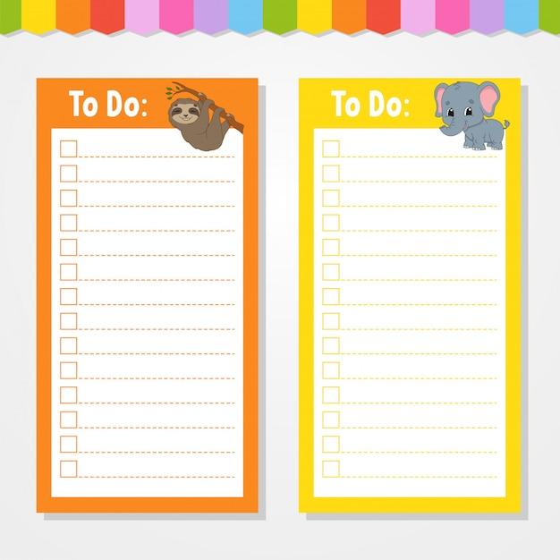 Сделать список для детей. Premium векторы