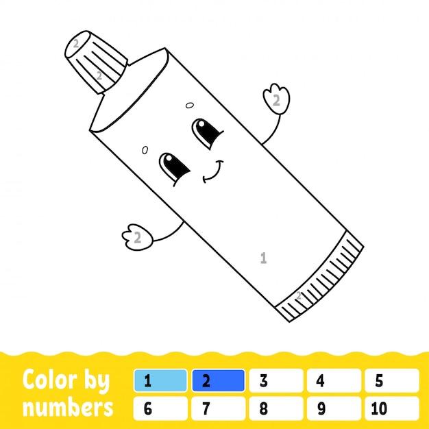 数字による色分け Premiumベクター